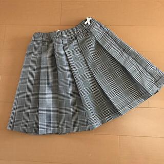 petit main - 【新品】petit main リボンボタンつきプリーツスカート