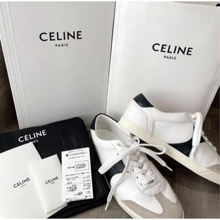 celine - 美品 セリーヌ CELINE メンズ レザー スニーカー 42   27.5