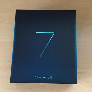 エイスース(ASUS)のzenfone7  ホワイト SIMフリー(スマートフォン本体)