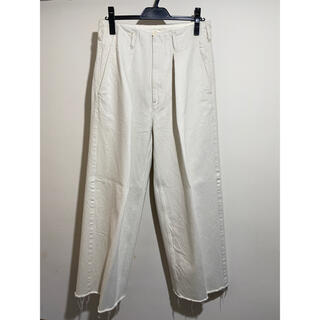 サンシー(SUNSEA)のsaby Tuck Baggy Pants サイズ2 21ss(デニム/ジーンズ)