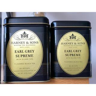 ハーニー&サンズ アールグレイ シュプレームティー 2缶(茶)