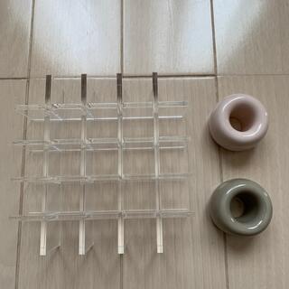 ムジルシリョウヒン(MUJI (無印良品))の無印良品 アクリルボックス仕切り 歯ブラシスタンド(小物入れ)