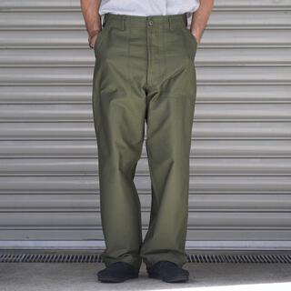 コモリ(COMOLI)のCIOTA 21AW スビンコットン ムラ糸 バックサテン ベイカーパンツ(ワークパンツ/カーゴパンツ)