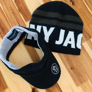 PEARLY GATES - 新品同様 極美品 パーリーゲイツ ジャックバニー 3way ツバ付 ニット帽