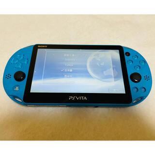 プレイステーションヴィータ(PlayStation Vita)の☆極美品☆PSVita PCH-2000 ZA23 本体 アクアブルー (家庭用ゲーム機本体)