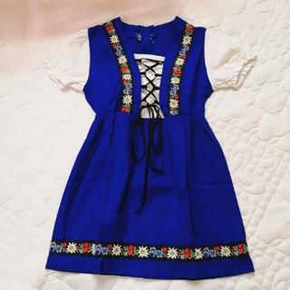スイス チロリアン 民族衣装 ワンピース(ワンピース)