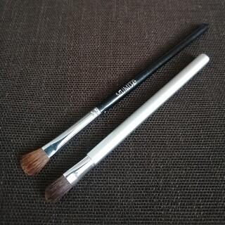 ムジルシリョウヒン(MUJI (無印良品))の2本 天然毛 メイクブラシ アイシャドーブラシ(アイシャドウ)