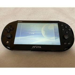 プレイステーションヴィータ(PlayStation Vita)のPSVita PCH-2000 ZA11 SONY ブラック 本体 動作良好(家庭用ゲーム機本体)
