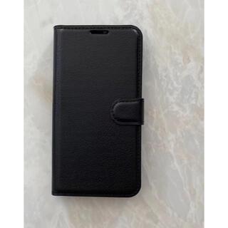 オッポ(OPPO)の新入荷!シンプルレザー手帳型ケース OPPO A73 ブラック 黒(Androidケース)