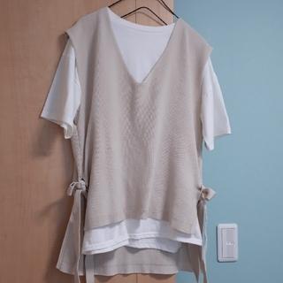 しまむら - しまむら/Tシャツ&ベスト2点セット