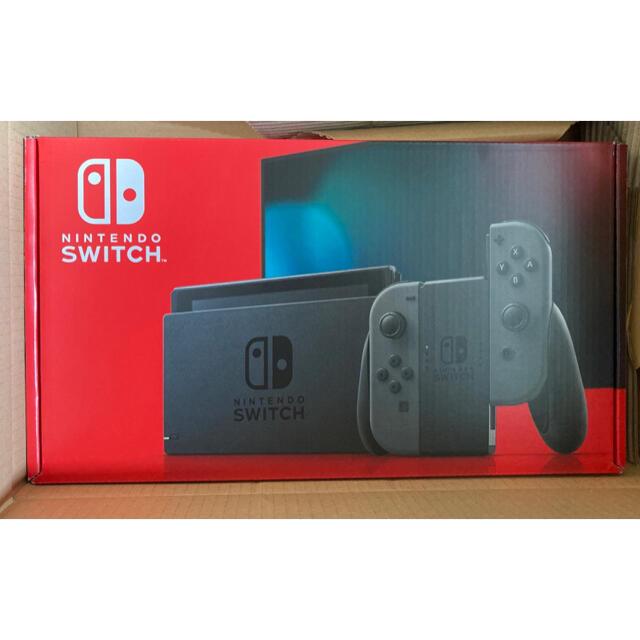 Nintendo Switch(ニンテンドースイッチ)の新品未開封 スイッチ Switch グレー 新型タイプ エンタメ/ホビーのゲームソフト/ゲーム機本体(家庭用ゲーム機本体)の商品写真