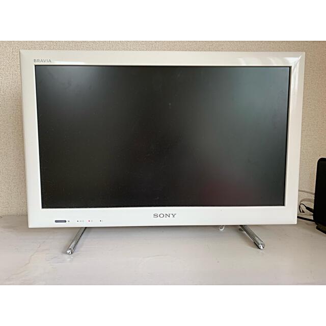BRAVIA(ブラビア)のSONY 2013年製 KDL-22EX540 白 スマホ/家電/カメラのテレビ/映像機器(テレビ)の商品写真