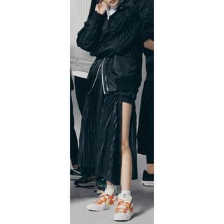 サカイ(sacai)のsacai × Nike プリーツスカート ブラック (ロングスカート)