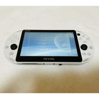 プレイステーションヴィータ(PlayStation Vita)のPSVita PCH-2000 ZA22  本体 グレイシャーホワイト 画面無傷(家庭用ゲーム機本体)