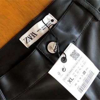 ZARA - ✨新品✨ZARA レザー風フレアーミディスカート