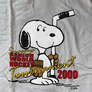 スヌーピー(SNOOPY)のレア物 スヌーピー サンタローザ アイスホッケートーナメント 記念Tシャツ(Tシャツ/カットソー(半袖/袖なし))