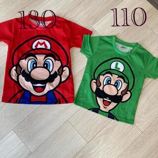ユニバーサルスタジオジャパン(USJ)のユニバ 限定Tシャツ  マリオとルイージセット(Tシャツ/カットソー)