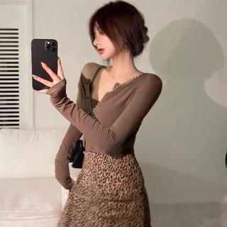 ディーホリック(dholic)の韓国ファッション カーディガンxキャミソール 2点セット(カーディガン)