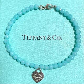 Tiffany & Co. - ティファニー ビーズ ブレスレット 天然石 アマゾナイト 青 ブルー