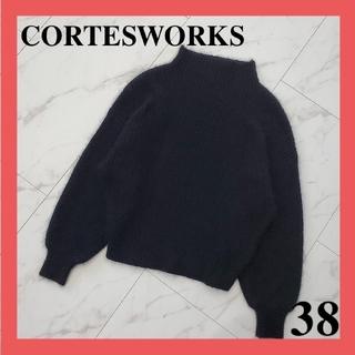 コルテスワークス(CORTES WORKS)のコルテスワークス ニット 黒 M アンゴラ混 レディース服(ニット/セーター)
