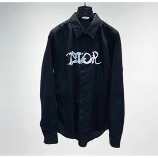 ディオール(Dior)のDior シャツ トップス ピータードイグ コラボ 長袖 ロゴ(シャツ)