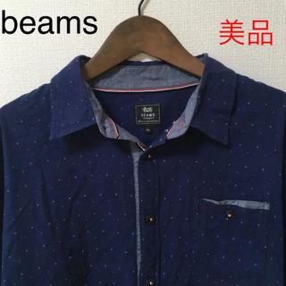 BEAMS - 【美品】beams  ビームス メンズ シャツ トップス ネイビー 紺 XL