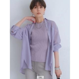 Apuweiser-riche - アプワイザーリッシェ シアーシャツアンサンブル 新品 薄紫