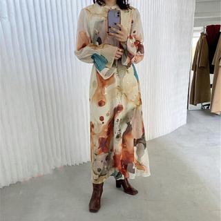 Ameri VINTAGE - UNDRESSED AMELIA INK ART DRESS