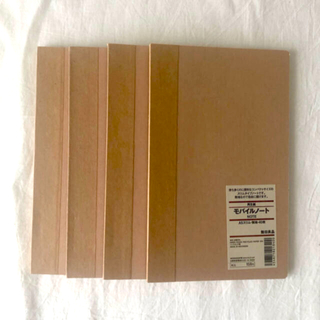 ムジルシリョウヒン(MUJI (無印良品))の無印 モバイルノート 4冊セット 廃盤商品(ノート/メモ帳/ふせん)