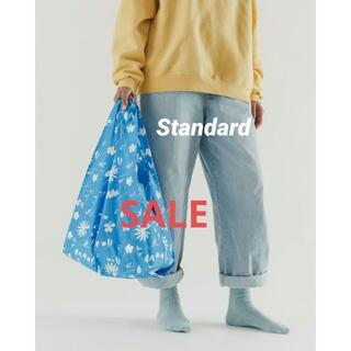 BAGGU エコバッグ スタンダード サンプリントフラワー ブルー 新品未使用(エコバッグ)