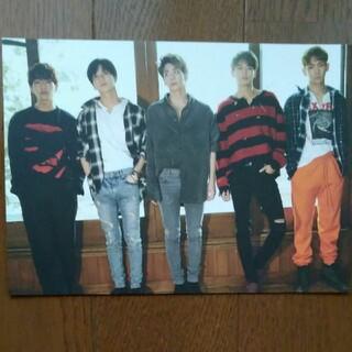 シャイニー(SHINee)のSHINee 5人集合1of 1公式ビッグポストカード(アイドルグッズ)