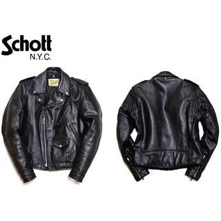 ショット(schott)の正規品Schottショット/本革レザー/ダブルライダースジャケット/36(ライダースジャケット)