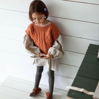 キャラメルベビー&チャイルド(Caramel baby&child )のsoor ploom*ストライプチュニック・ニットベストセット(ワンピース)
