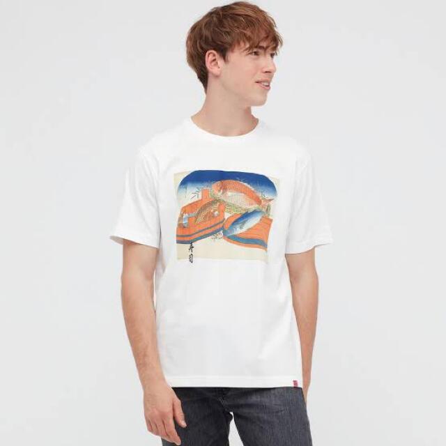 UNIQLO(ユニクロ)のユニクロ Tシャツ UT佐藤可士和展 鯛鰹鯉歌川広重メンズS メンズのトップス(Tシャツ/カットソー(半袖/袖なし))の商品写真