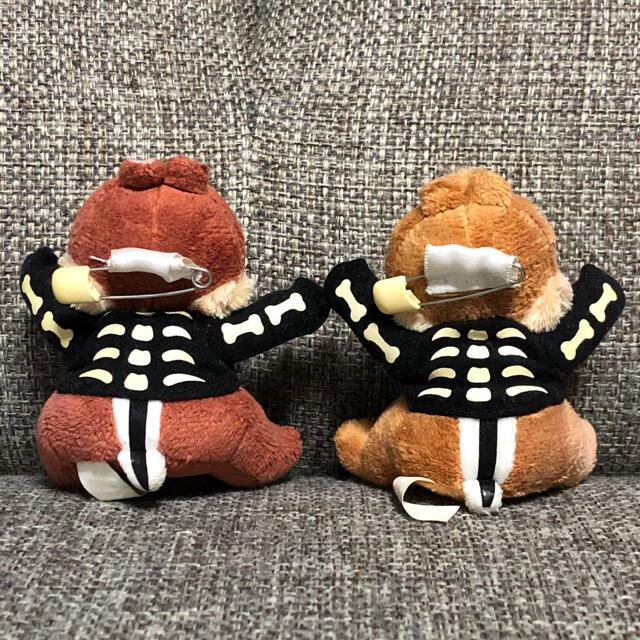 チップ&デール(チップアンドデール)のチップ&デール ぬいぐるみバッジ ハロウィン エンタメ/ホビーのおもちゃ/ぬいぐるみ(ぬいぐるみ)の商品写真