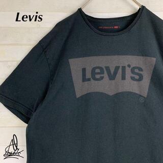 Levi's - 《デカロゴ》Levis リーバイス Tシャツ Lブラック 黒 ビックロゴ