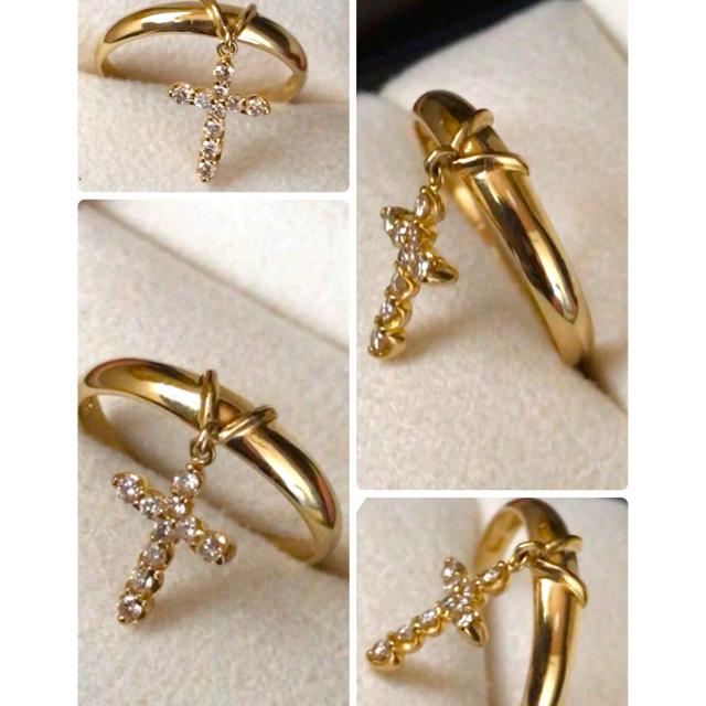 美品 ✨ K18  天然ダイヤモンド リング   レディースのアクセサリー(リング(指輪))の商品写真
