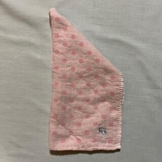 ポロラルフローレン(POLO RALPH LAUREN)のラルフローレン ガーゼタオルハンカチ ピンク 中古品 #1052(ハンカチ)