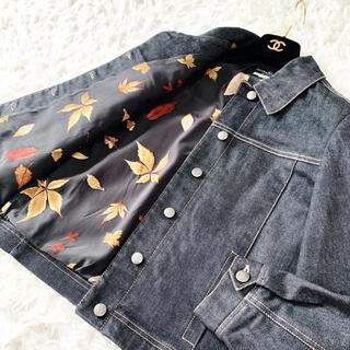 Salvatore Ferragamo - 美品 サルバトーレフェラガモ デニム 秋色 スカーフ ジャケット ブルゾン