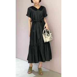 グレースコンチネンタル(GRACE CONTINENTAL)の刺繍衿デニムワンピース グレースコンチネンタル(ひざ丈ワンピース)