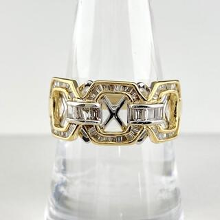 メレダイヤ デザインリング 13号 YG 【中古】(リング(指輪))
