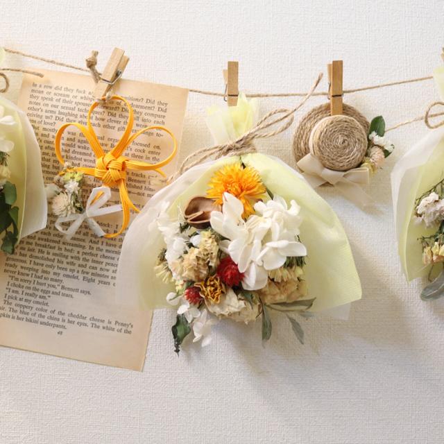 014 008ドライフラワーガーランド スワッグ花 ハンドメイドのフラワー/ガーデン(ドライフラワー)の商品写真