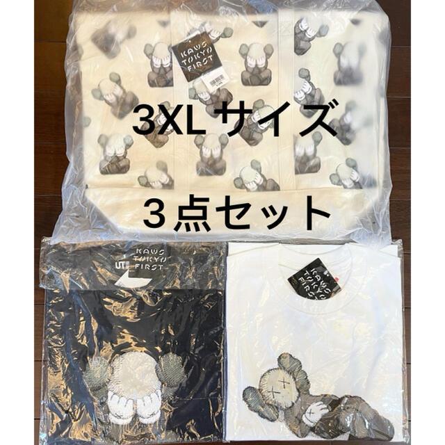 UNIQLO(ユニクロ)のKAWS TOKYO FIRST ユニクロUTコラボTシャツ2枚とトートバッグ メンズのトップス(Tシャツ/カットソー(半袖/袖なし))の商品写真
