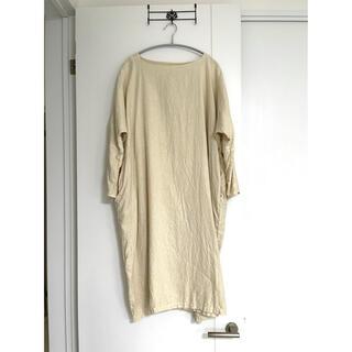 ネストローブ(nest Robe)のnest Robe*起毛リネンワンピース*クリーム(ロングワンピース/マキシワンピース)