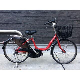 ヤマハ(ヤマハ)の地域限定送料無料 ナチュラ バッテリー新品 24インチ 赤 神戸市 電動自転車(自転車本体)