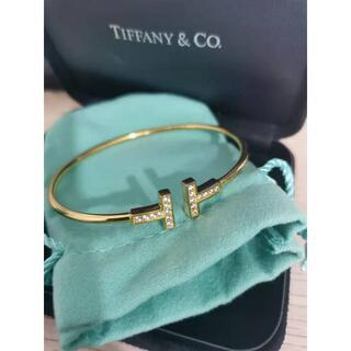 Tiffany & Co. - 正規 TIFFANY&Co. ティファニー Tワイヤーブレス K18RG ダイヤ