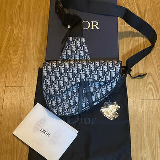 ディオール(Dior)のDIOR オブリーク  ロゴ サドル ショルダー バック ディオール(ショルダーバッグ)