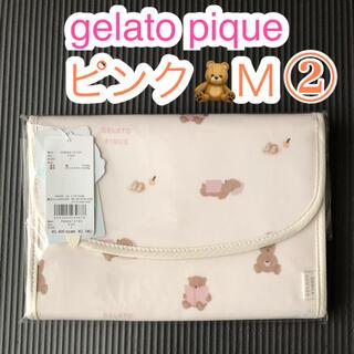 gelato pique - おうちリラックスクマモチーフ母子手帳ケースM◆ジェラートピケ◆通帳ポーチ・ピンク