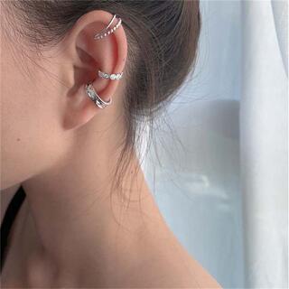 耳元をオシャレにイヤーカフ3点セット シルバー 片耳用 お得  EAR227
