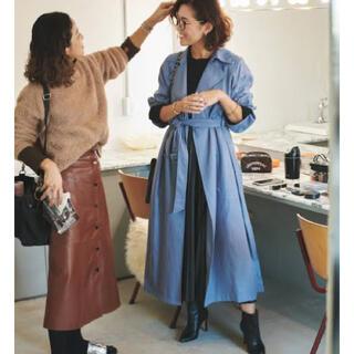Mila Owen - 《新品タグ付き》ミラオーウェン ロングリネン混コート トレンチコート